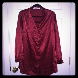 Victoria Secret satin night shirt